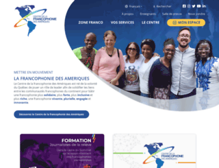 francophoniedesameriques.com screenshot