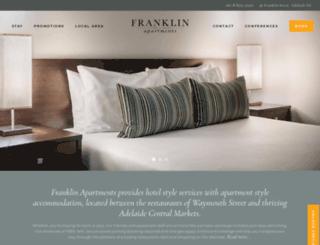franklinapartments.com.au screenshot