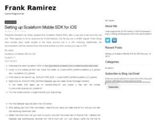 frankprogrammer.com screenshot