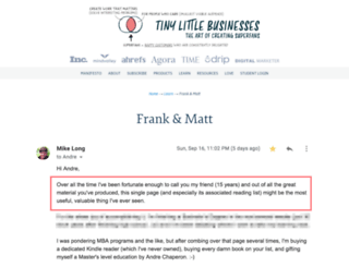 frankvsmatt.com screenshot