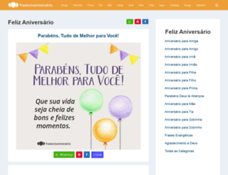 frasedeaniversario.com.br screenshot
