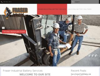 fraserindustrialbatteryservices.com screenshot