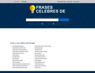 frasescelebresde.com screenshot