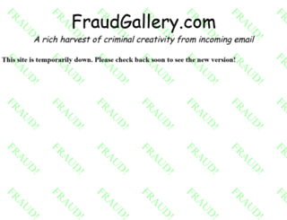 fraudgallery.com screenshot