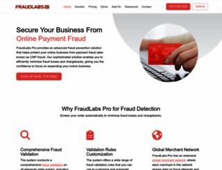 fraudlabspro.com screenshot