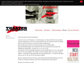 fraunhofertheater.de screenshot