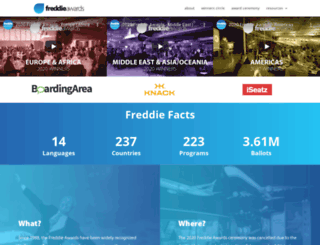 freddieawards.wpengine.com screenshot