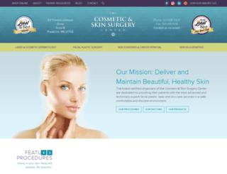 frederickcosmeticsurgery.com screenshot