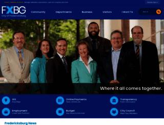 fredericksburgva.gov screenshot