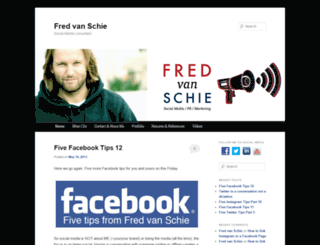 fredvanschie.com screenshot