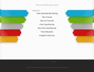free-classified-ads.org.uk screenshot