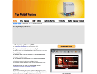 free-digital-signage.com screenshot