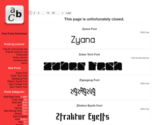 free-fonts-download.com screenshot