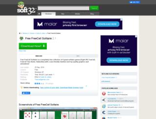 free-freecell-solitaire.soft32.com screenshot