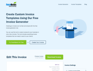 free-invoice-generator.com screenshot