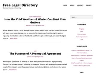 free-legal-directory.com screenshot