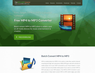 free-mp4-to-mp3-converter.com screenshot