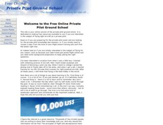 free-online-private-pilot-ground-school.com screenshot