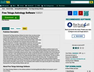 free-telugu-astrology-software.soft112.com screenshot
