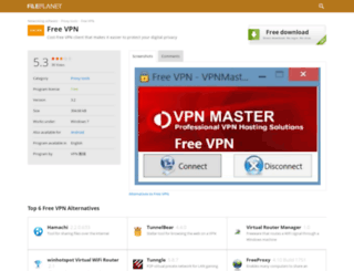 free-vpn.fileplanet.com screenshot