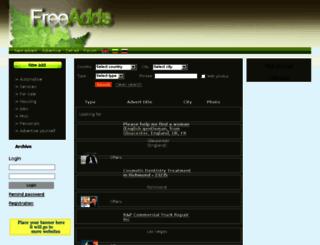 freeaddlistonline.com screenshot