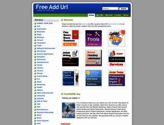 freeaddurl.org screenshot