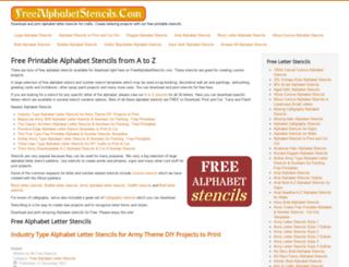 freealphabetstencils.com screenshot