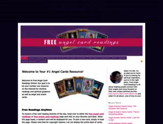 freeangelcardreadingsonline.com screenshot