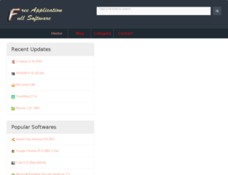 freeapplicationsfullsoftwares.com screenshot