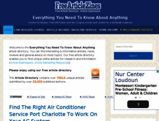 freearticlezines.com screenshot