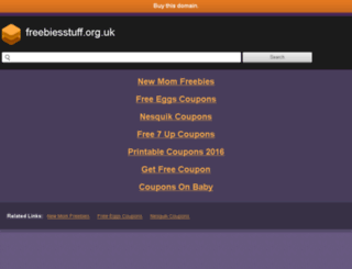 freebiesstuff.org.uk screenshot