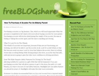 freeblogshare.com screenshot