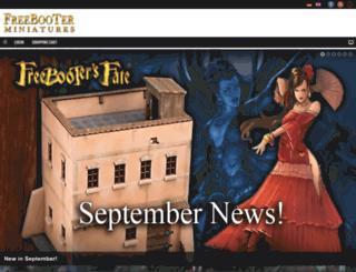 freebooterminiatures.com screenshot