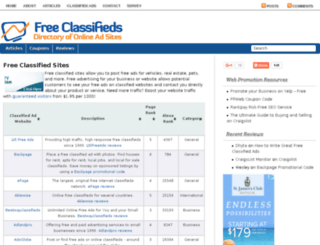 freeclassifiedsites.net screenshot