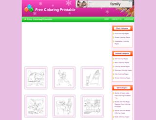 freecoloringprintable.com screenshot