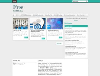 freedofollowseositeslist.blogspot.in screenshot