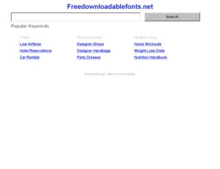freedownloadablefonts.net screenshot