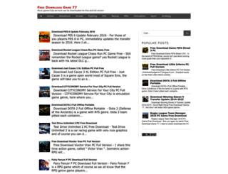 freedownloadgame77.blogspot.com screenshot