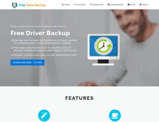 freedriverbackup.com screenshot