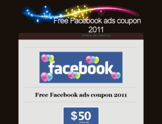 freefacebookadscoupon2011.blinkweb.com screenshot
