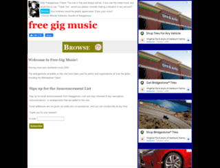 freegigmusic.com screenshot