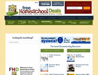 freehomeschooldeals.com screenshot