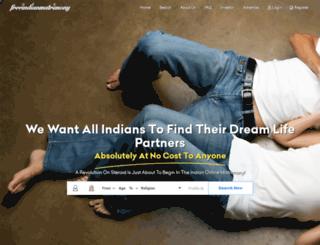 freeindianmatrimony.com screenshot