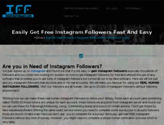 freeinstafollowers.biz screenshot