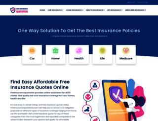 freeinsurancequotation.com screenshot