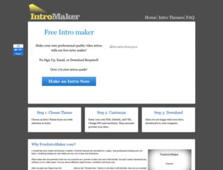 freeintromaker.com screenshot