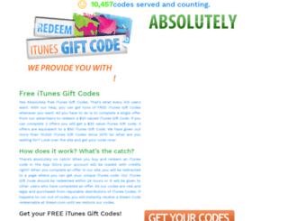 freeitunescodesofgiftcard.com screenshot