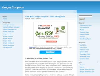 freekrogercoupons.wordpress.com screenshot