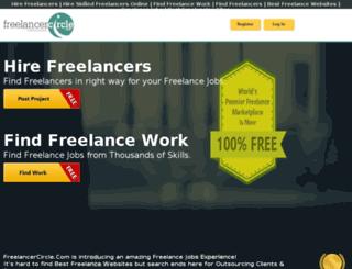 freelancercircle.com screenshot