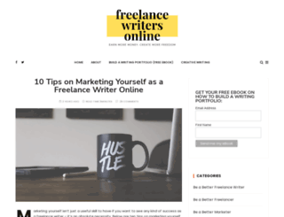 freelancewritersonline.com screenshot